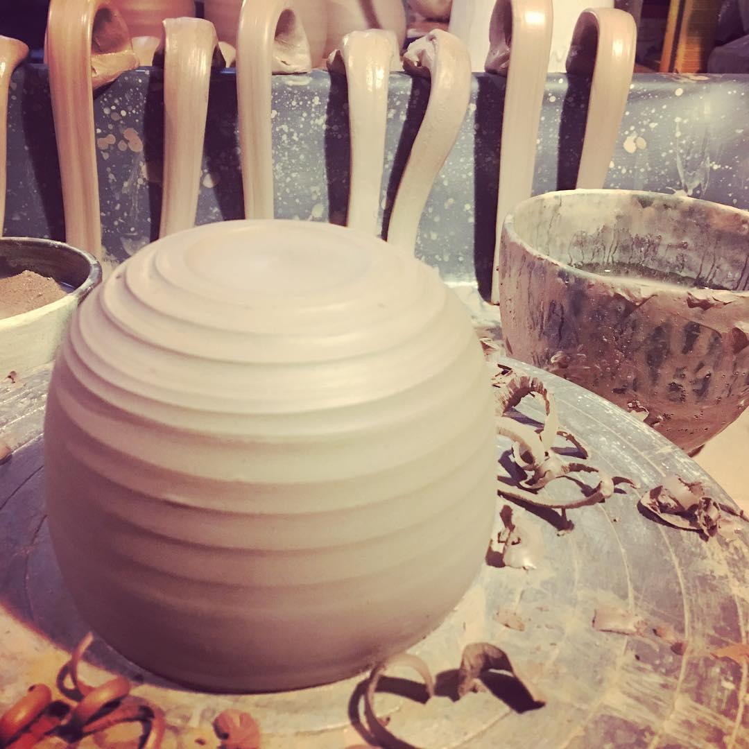 Turning some new #handmademugs #potterywheel #handmadeceramics