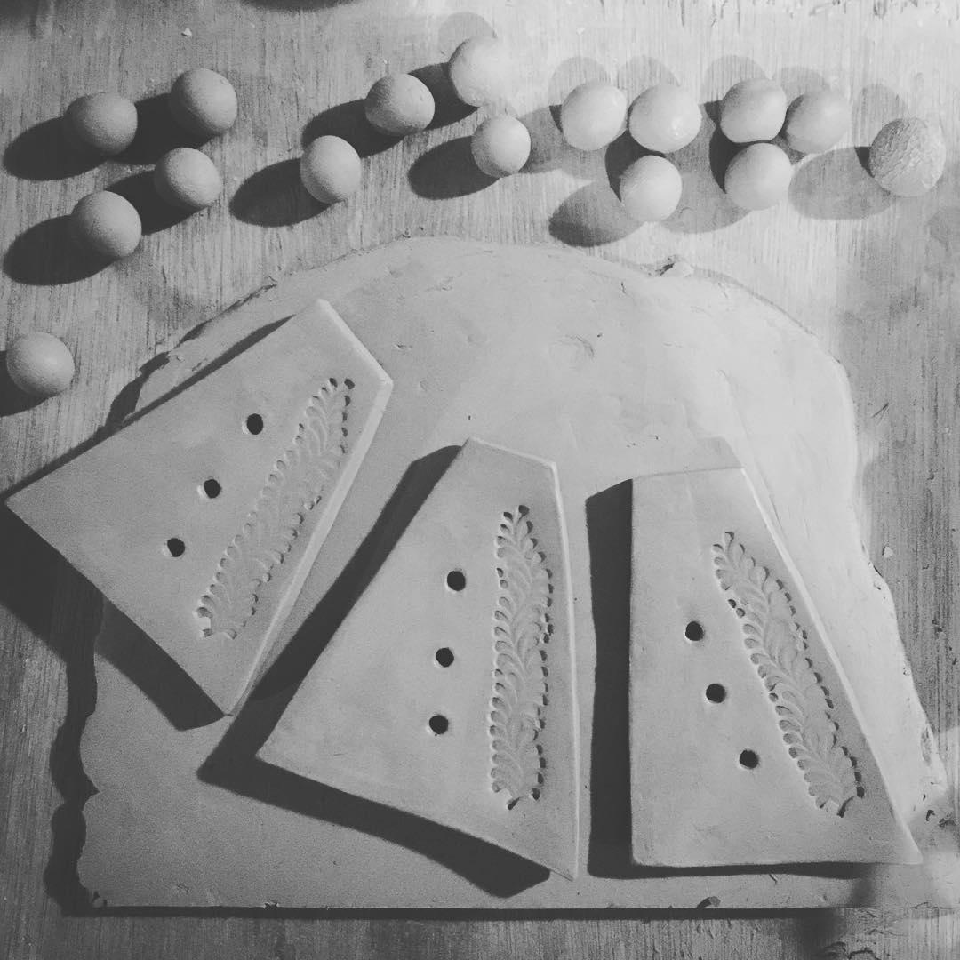 Making soap dishes #latenightmaking #creativemoments #potterystudiolife