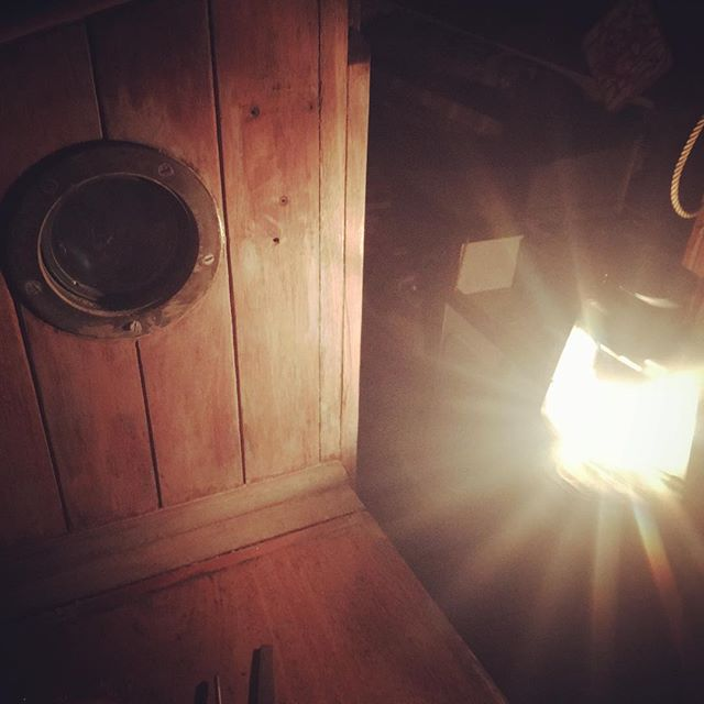A beautiful starry evening stripping varnish by lamplight #hurricanelamp #boatprojects #woodenboat
