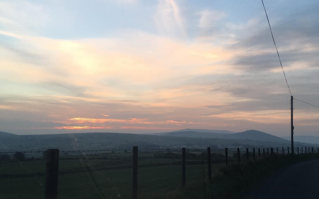 An evening drive with the sun setting over the #preselihills #countryroads #autumnlight