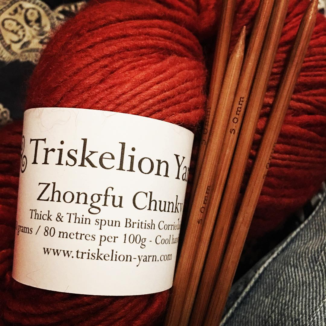 Looking forward to knitting a new pattern by @aprilfreshknits with this lovely yarn from #triskelionyarn  #testknit #handknit