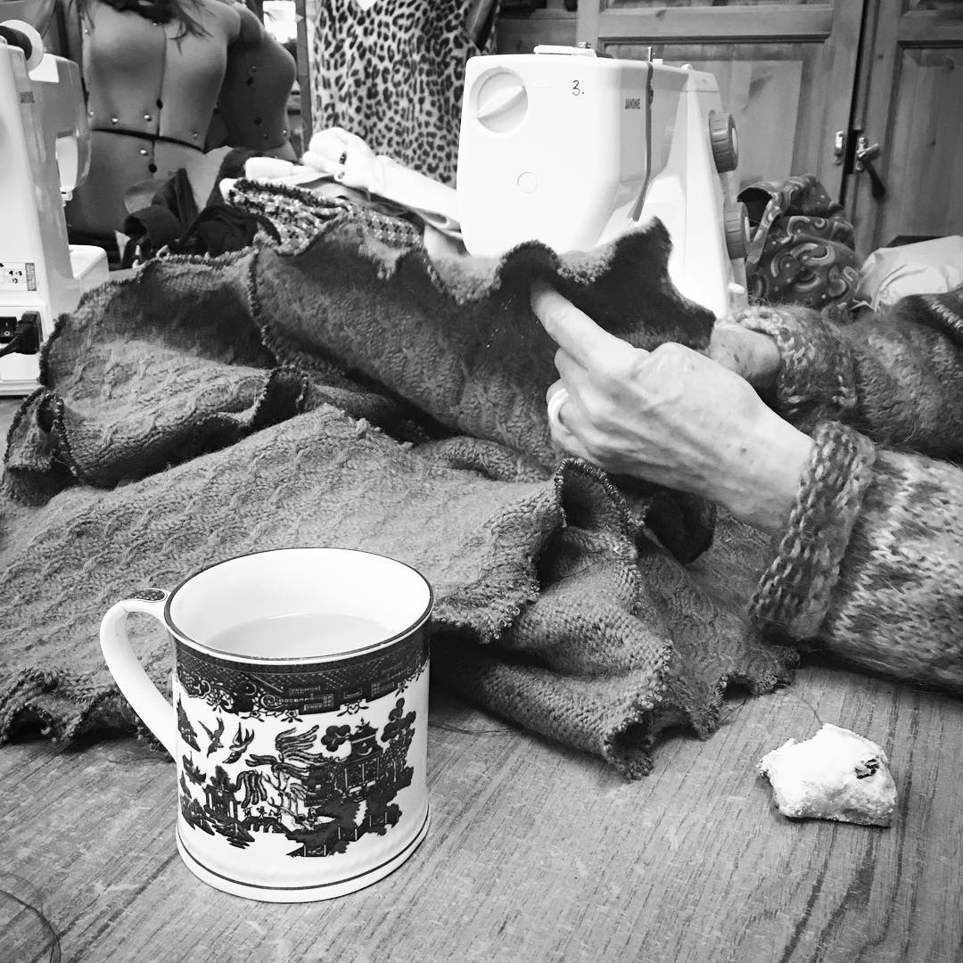 Wonderful day #upcycling jumpers at one of @caryswench 's fabulous workshops! #ailgreu #recycling  #inspired #sewing