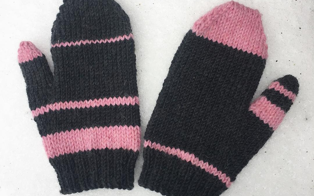 #merino #mittens finished just in time for the snow! #handknitted #snow